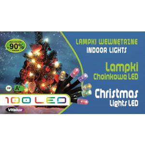 LM001-4 l.choinkowe wew.100LED czerw.gniazdo+pr