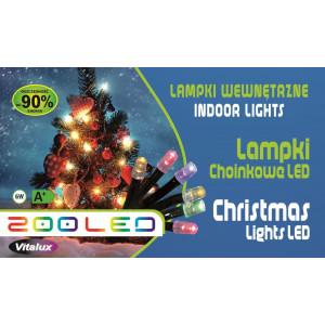 LM005-2 l.choinkowe wew.200LED z.biały gniazdo+pr