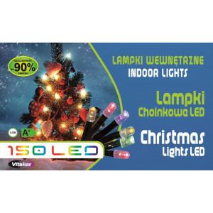 LM07-5 l.choinkowe wew.150LED c.biały gniazdo+pr