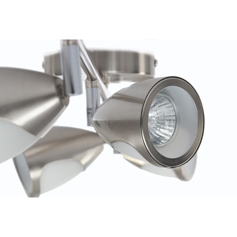 LUKE-4 satynowy nikiel lampa z żar. 50W