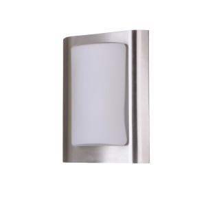 ODETA inox lampa plafon szyld klosz szkło IP44