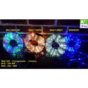 """W20-5 c.biały """"WĄŻ ŚWIETLNY"""" 20M LED programator"""