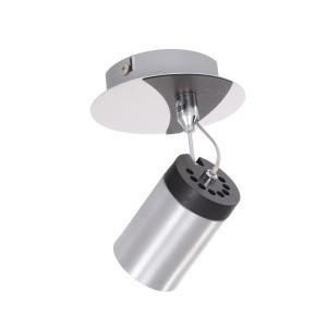 SIMON-1 aluminum+black lampa ścienna kinkiet spot
