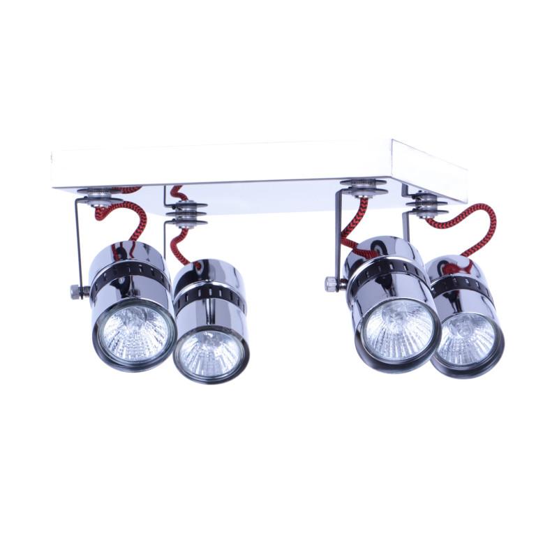 VITO-4R czarny/chrom lampa sufitowa spot 4xGU10