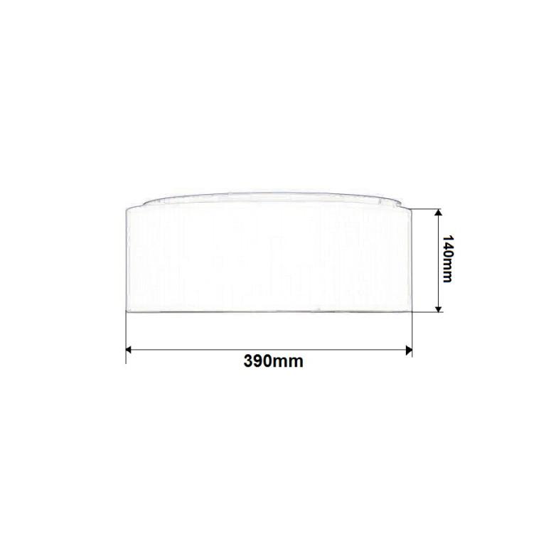 ACARDI-400 grey abażur plafon