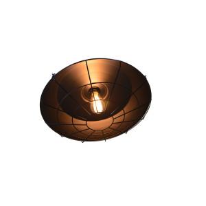AMELIA loft zwis pojedyńczy klosz metal czarny