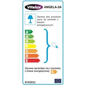 ANGELA-2A satynowy chrom lampa