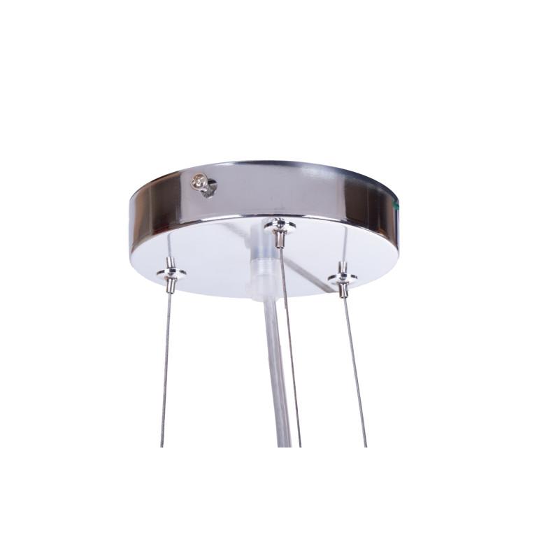 ARETA lampa chrom+czarny+kryształ zwis*3 żarówki