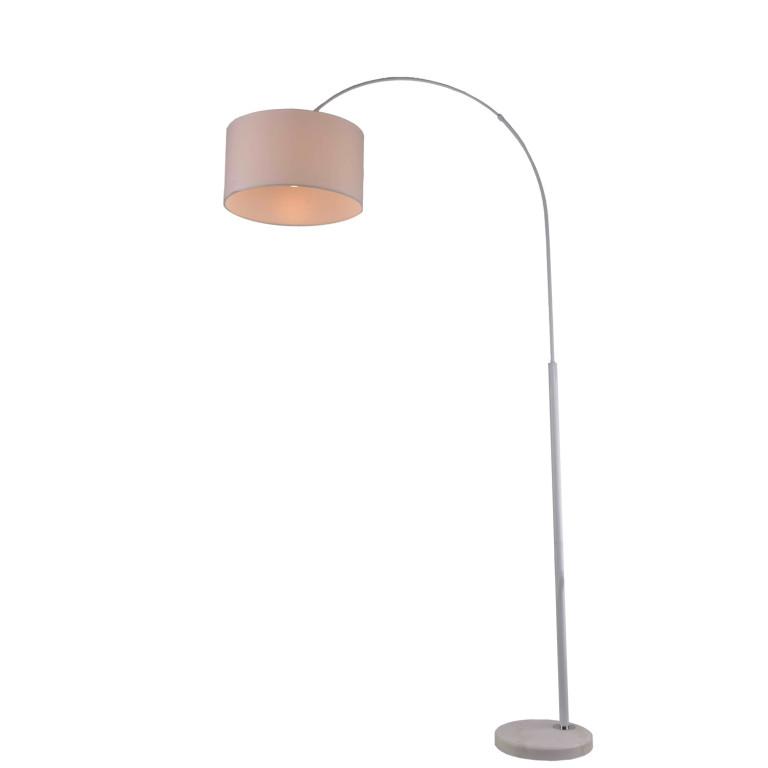 BORNEO-W biała lampa podłogowa abażur E27