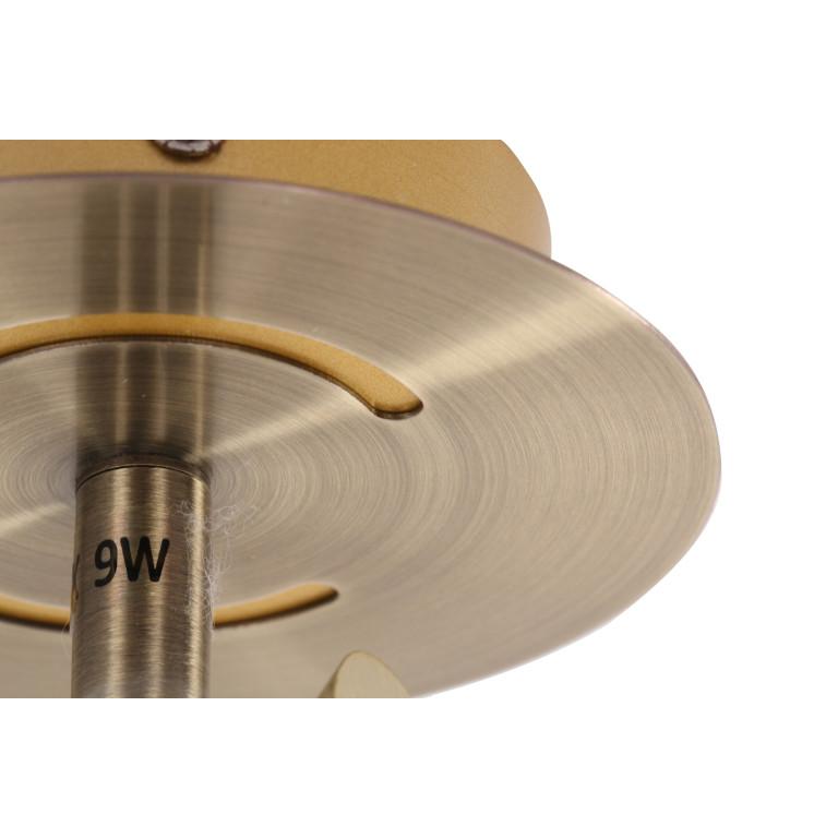 BRADFORD-1 antyczny mosiądz lampa ścienna spot