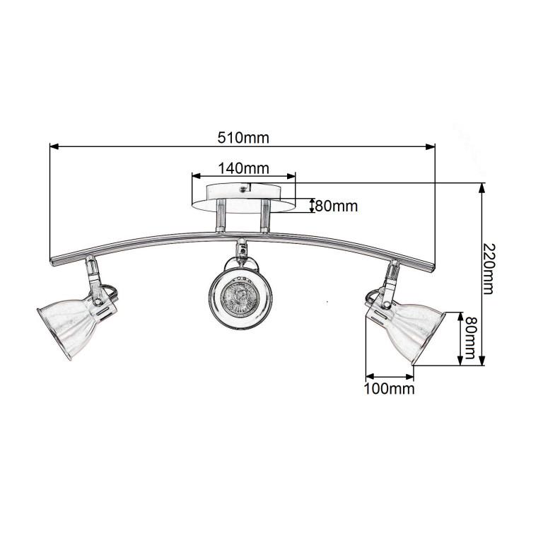 BRENDA-3  satyna lampa sufitowa spot