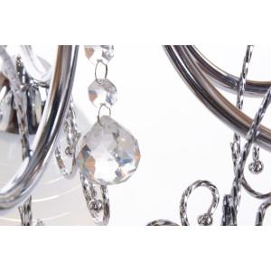 CARIATI-3 glamour chrom lampa żyrandol klosze szkło kryształki 3xE27 hurt