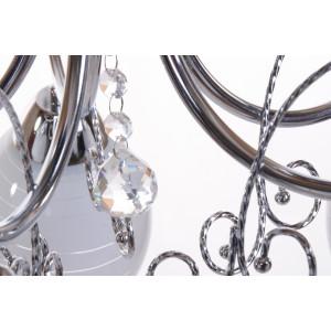 CARIATI-5 glamour chrom lampa żyrandol klosze szkło kryształki 5xE27 hurt
