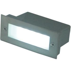 CHRIS LED inox lampa pod tynk 1,6W IP44