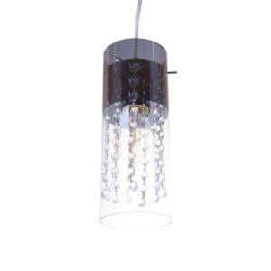 CLARISA-2 chrom+kryształ lampa zwis podwójny