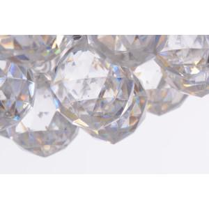 CONO-5 klasyk chrom+akryl lampa wisząca 400mm
