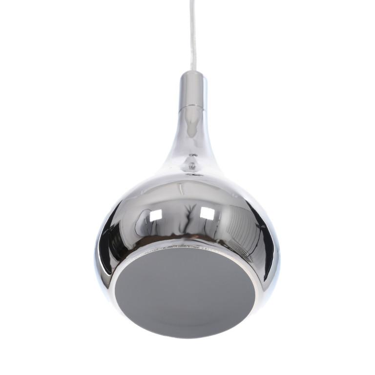 CORRADO D lampa zwis pojedyńczy klosz metal chrom