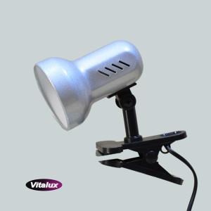 CSL-408 srebrna lampka biurkowa klips
