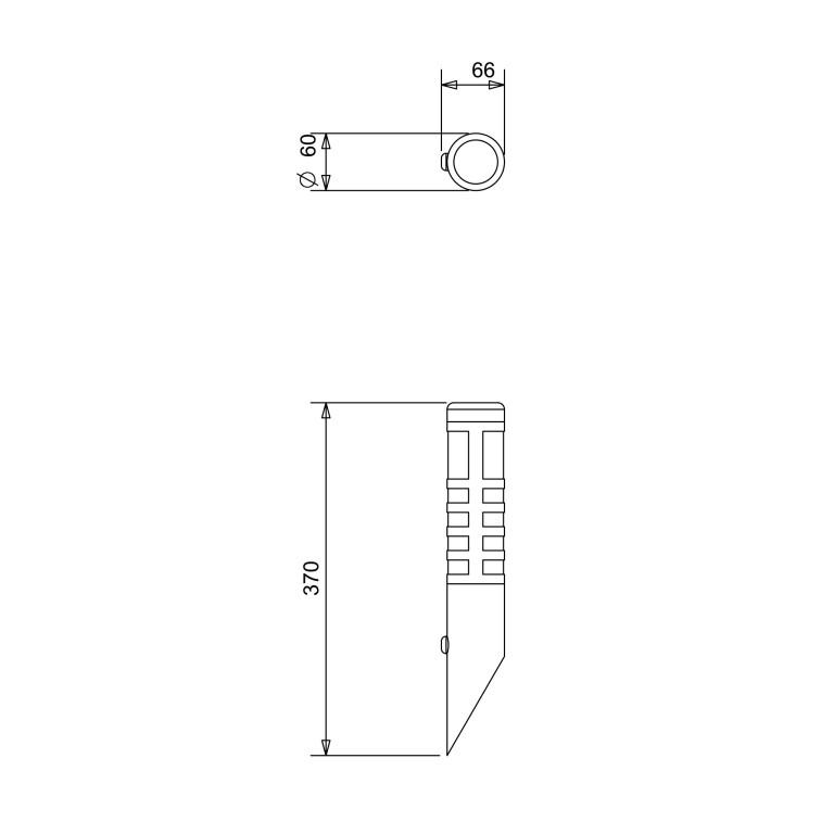 DANIELLE-SENSOR stainless steel l.ogrod kinkie b/ż