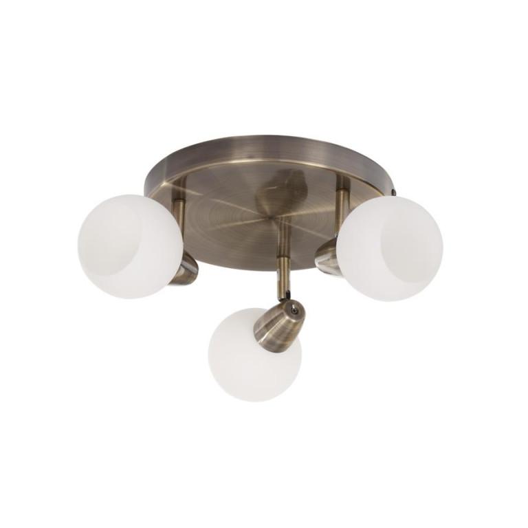 DAVID-3C antyczny mosiądz lampa sufitowa spot E14