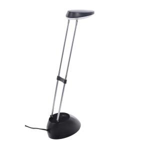 DEL-1316  LED 3W 6500K czarna lampka biurkowa