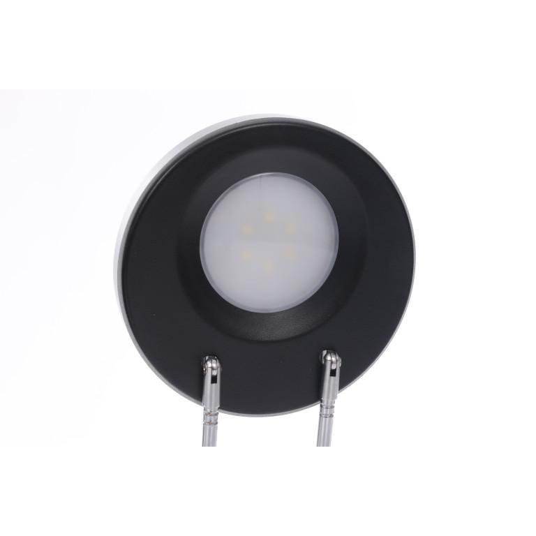 DEL-746 LED 3W 6000K czarna lampa biurkowa
