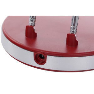 DEL-746 LED 3W 6000K czerwona lampa biurkowa