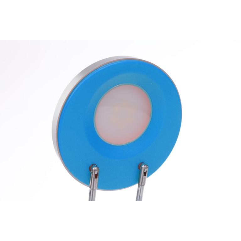 DEL-746 LED 3W 6000K niebieska lampa biurkowa