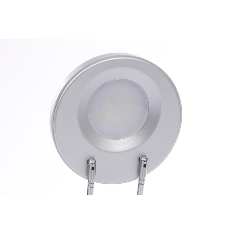 DEL-746 LED 3W 6000K srebrna lampa biurkowa