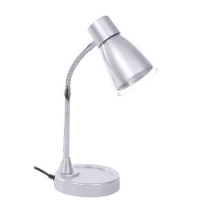 DEL-915 srebrna LED 3W 300 lm  lampa biurkowa