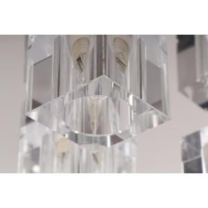 DORA-5 chrom lampa sufitowa plafon klosz szklany