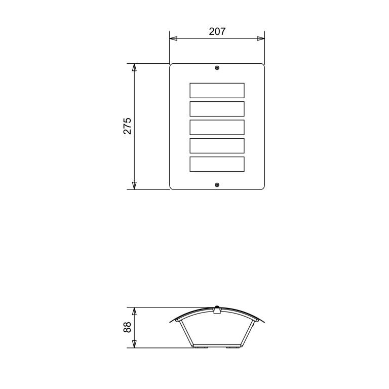 EDGAR inox kinkiet plafon ogród 1xE27 IP44