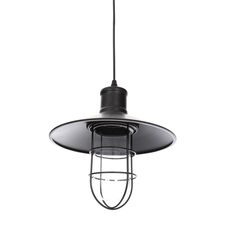 ELIZA loft style czarny szkło lampa wisząca 1xE27