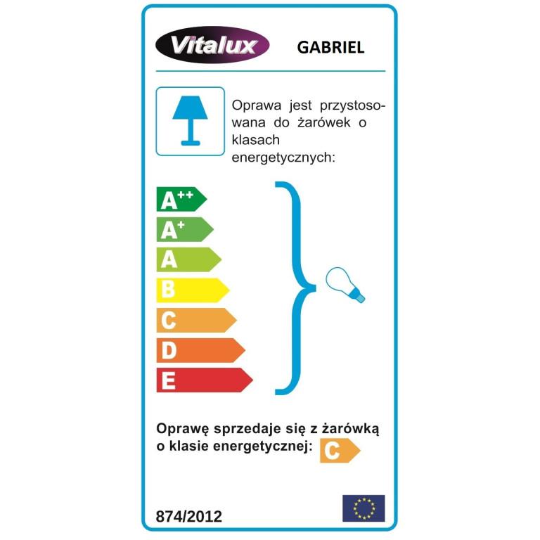 GABRIEL-2 spot kinkiet satynowy nikiel+chrom lampa