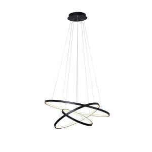 GALASSIA 600 LED czarny mat, lampa wisząca new style elastic Ø60/50/40cm  30/25/20W  4000K hurt