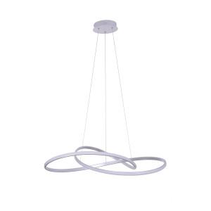 GIACARTA 700 LED srebrna lampa wisząca new style elastic  Ø70cm 55W  4000K hurt