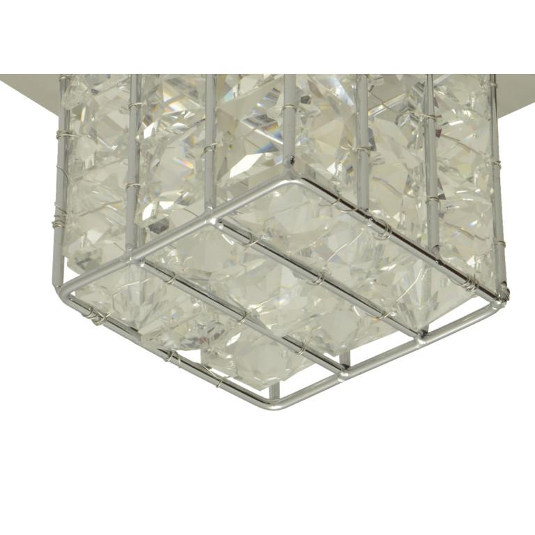 LA PAZ-1 chrom lampa sufitowa plafon klosz szkło