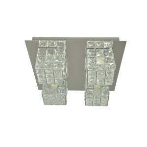 LA PAZ-4 chrom lampa sufitowa plafon klosz szkło