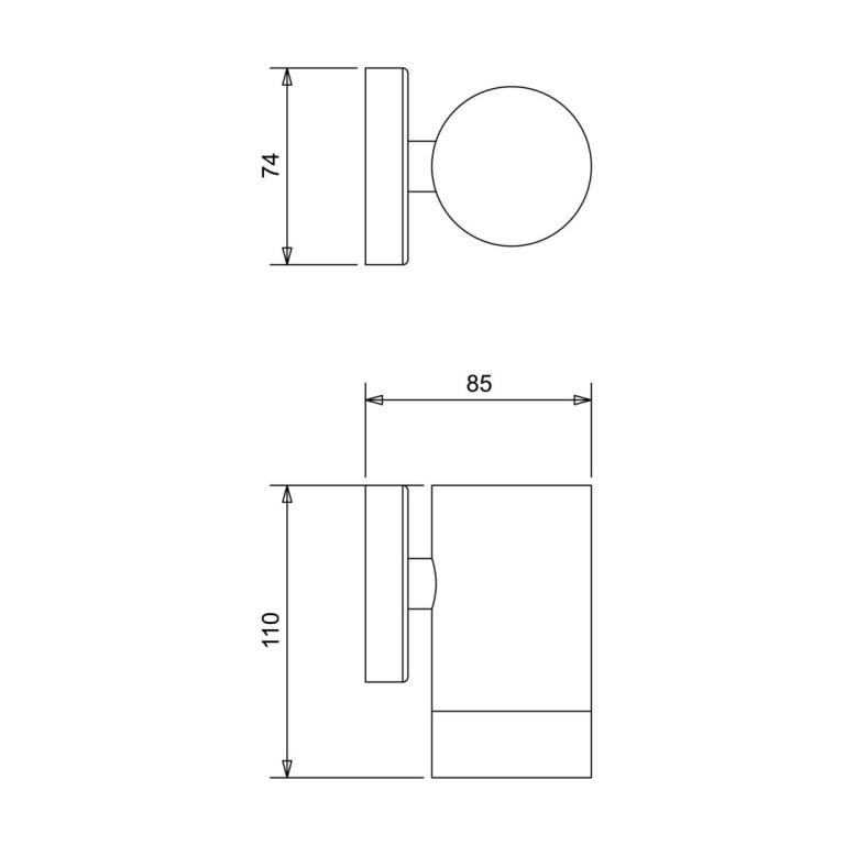 LEO kinkiet ściana inox lampa ogrodowa  IP44  GU10