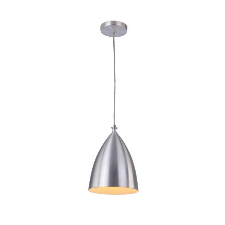 LIBBY aluminium+biały lampa zwis pojedynczy