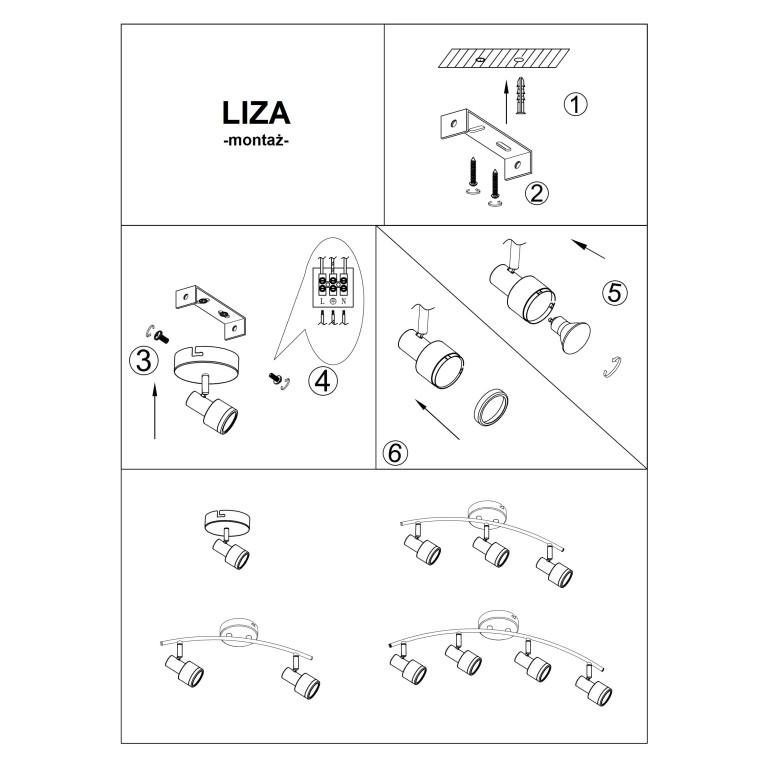LIZA-1 spot kinkiet satynowy nikiel lampa GU10