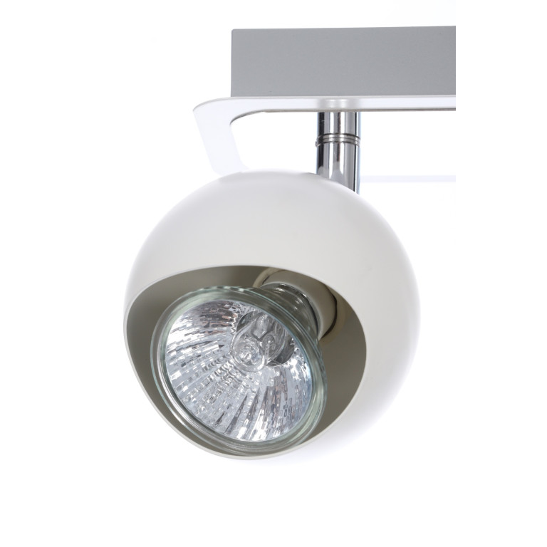 LORENZO-2R spot biały+chrom lampa 2xGU10
