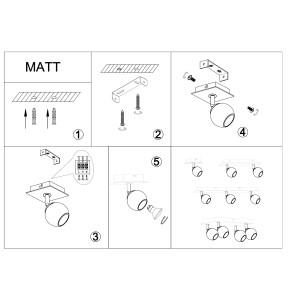 MATT-4R czarna+chrom lampa b/ż