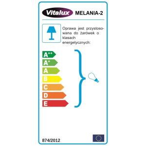 MELANIA-2 satynowy nikiel lampa sufit żyrandol