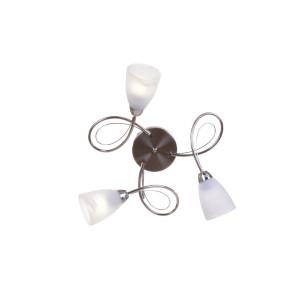 MELANIA-3 satynowy nikiel lampa sufit żyrandol