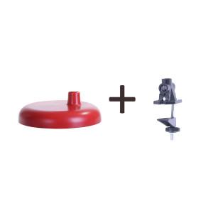 MT-503 czerwony lampka biurkowa podstawa/klips lof