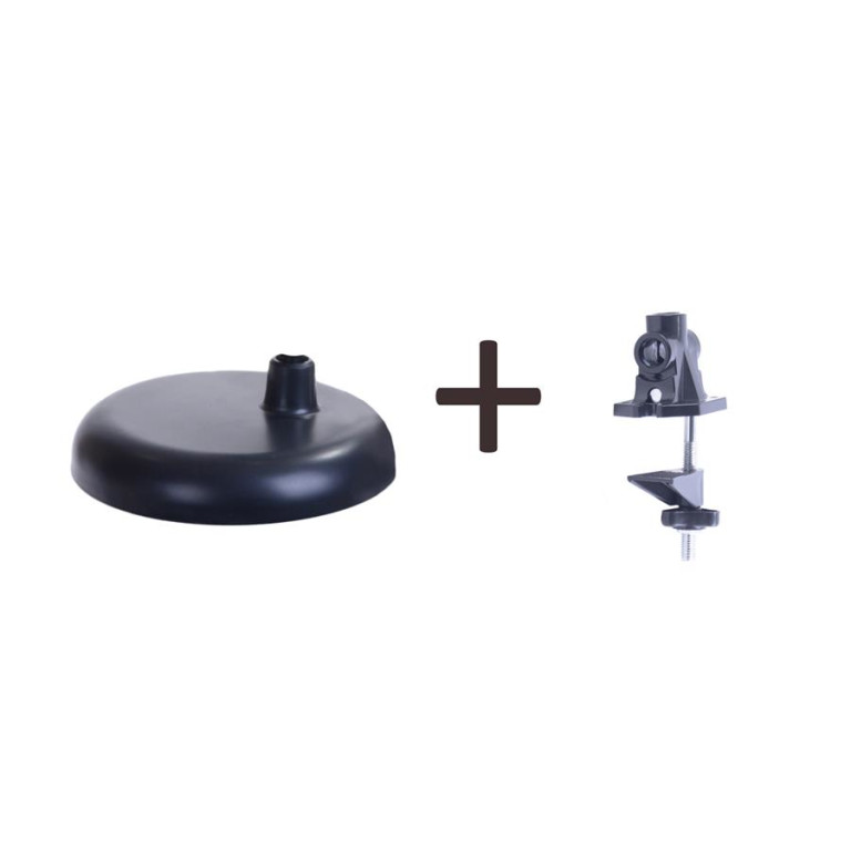 MT-504 czarny lampa biurkowa podstawa/klips