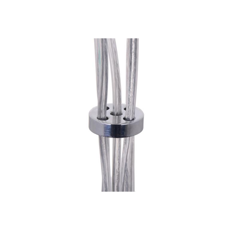 NEVA-5 chrom kula lampa zwis 5xE27
