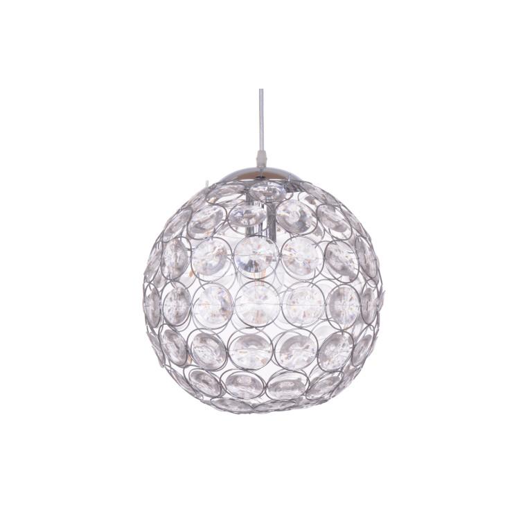 PALLA  chrom kula szlif. szkło lampa wisząca 300mm