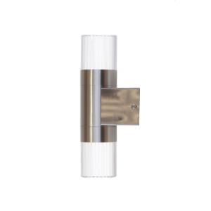 REGAN-K2 inox kinkiet LED 2×1,2W stal  IP44 A+